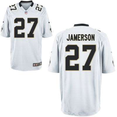 Men's New Orleans Saints #27 Natrell Jamerson White Road Stitched NFL Nike Game Jersey