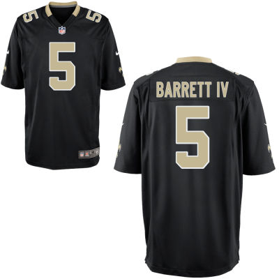 Men's New Orleans Saints #5 J. T. Barrett IV Black Team Color Stitched NFL Nike Game Jersey