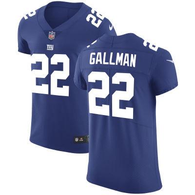 Men's New York Giants #22 Wayne Gallman Royal Blue Team Color Stitched NFL Nike Vapor Untouchable Elite Jersey
