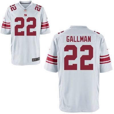 Men's New York Giants #22 Wayne Gallman White Road Stitched NFL Nike Game Jersey