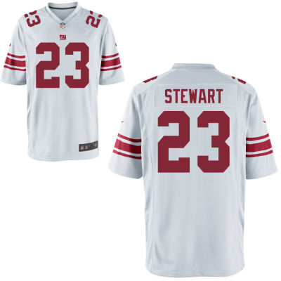 Men's New York Giants #23 Jonathan Stewart White Road Stitched NFL Nike Game Jersey
