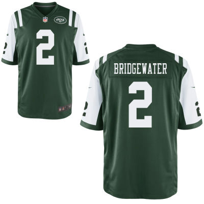 Men's New York Jets #2 Teddy Bridgewater Green Team Color Stitched NFL Nike Game Jersey