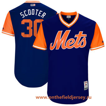 Men's New York Mets Michael Conforto -Scooter- Majestic Royal 2017 Little League World Series Players Weekend Stitched Nickname Jersey