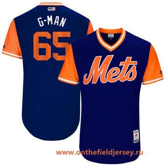 Men's New York Mets Robert Gsellman -G-Man- Majestic Royal 2017 Little League World Series Players Weekend Stitched Nickname Jersey