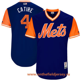 Men's New York Mets Wilmer Flores -Catire- Majestic Royal 2017 Little League World Series Players Weekend Stitched Nickname Jersey
