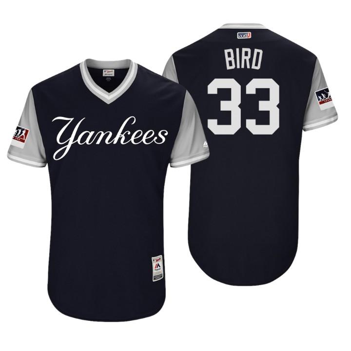 Men's New York Yankees Authentic Greg Bird #33 Navy 2018 LLWS Players Weekend Bird Jersey