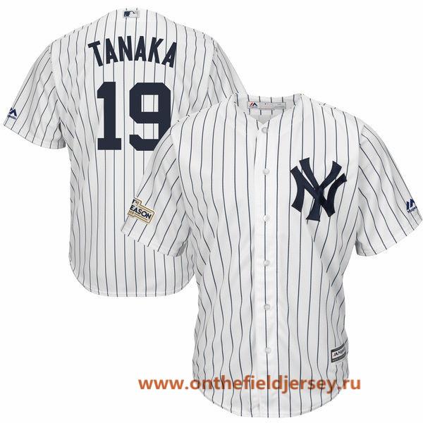 Men's New York Yankees Masahiro Tanaka Majestic White 2017 Postseason Cool Base Player Jersey