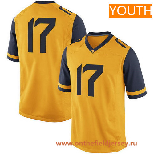 Youth West Virginia Mountaineers Custom College Football Nike Limited Jersey - Gold