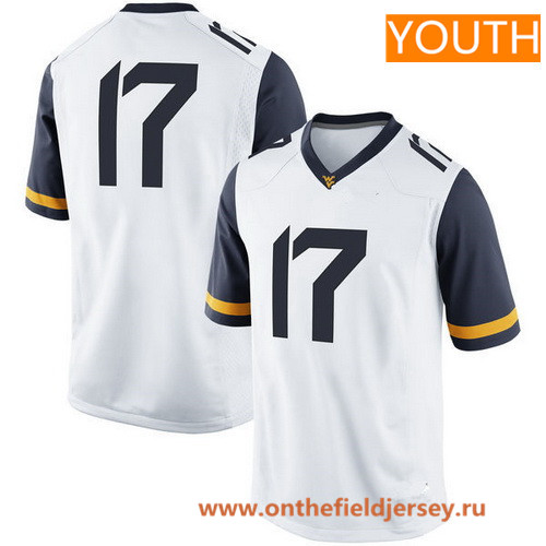 Youth West Virginia Mountaineers Custom College Football Nike Limited Jersey - White