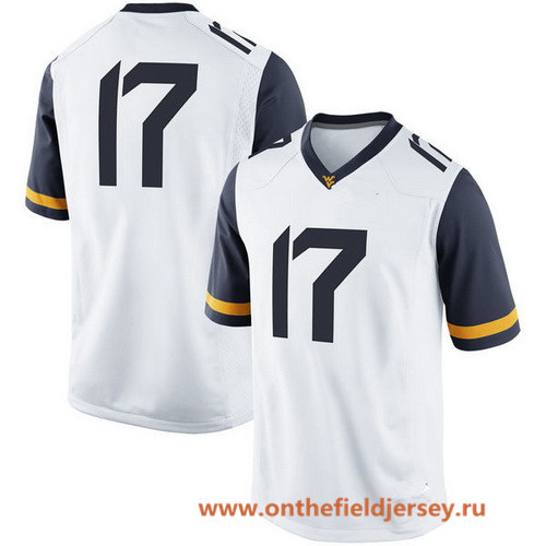 Men's West Virginia Mountaineers Custom College Football Nike Limited Jersey - White
