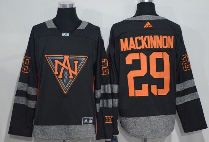 Men's North America Hockey #29 Nathan MacKinnon Black 2016 World Cup of Hockey Stitched adidas WCH Game Jersey-1