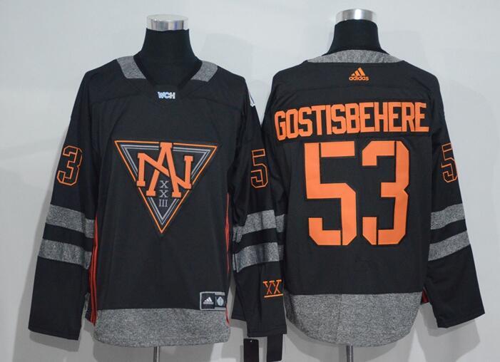 Men's North America Hockey #53 Shayne Gostisbehere Black 2016 World Cup of Hockey Stitched adidas WCH Game Jersey