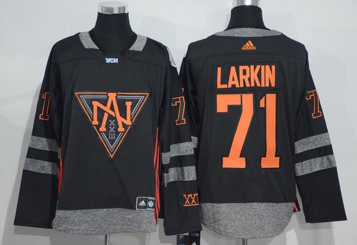 Men's North America Hockey #71 Dylan Larkin Black 2016 World Cup of Hockey Stitched adidas WCH Game Jersey