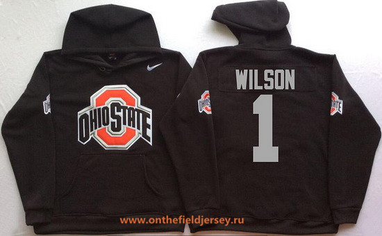 Men's Ohio State Buckeyes #1 Dontre Wilson Nike Black Stitched NCAA College Football Hoodie