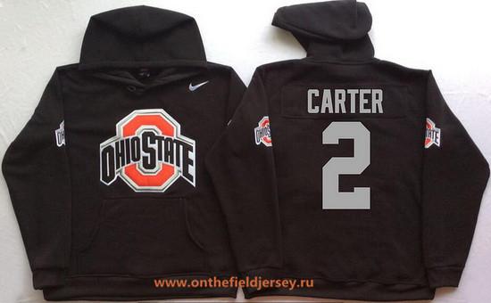 Men's Ohio State Buckeyes #2 Cris Carter Nike Black Stitched NCAA College Football Hoodie