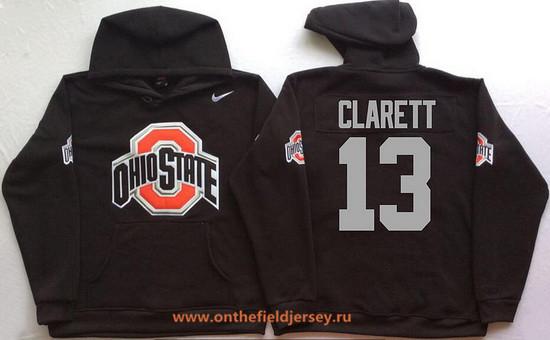 Men's Ohio State Buckeyes #13 Maurice Clarett Nike Black Stitched NCAA College Football Hoodie