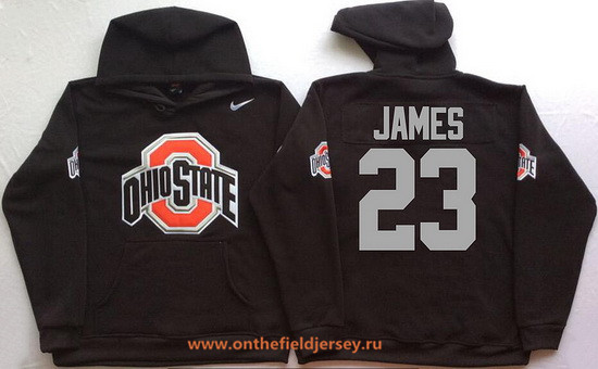 Men's Ohio State Buckeyes #23 Lebron James Nike Black Stitched NCAA College Football Hoodie