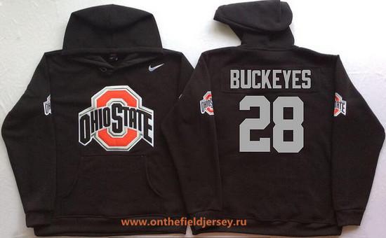 Men's Ohio State Buckeyes #28 Buckeyes Nike Black Stitched NCAA College Football Hoodie