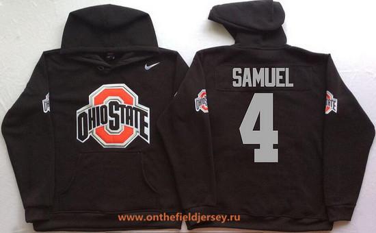Men's Ohio State Buckeyes #4 Curtis Samuel Nike Black Stitched NCAA College Football Hoodie