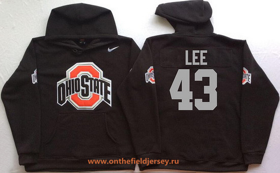 Men's Ohio State Buckeyes #43 Darrin Lee Nike Black Stitched NCAA College Football Hoodie