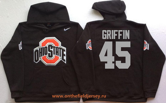Men's Ohio State Buckeyes #45 Archie Griffin Nike Black Stitched NCAA College Football Hoodie