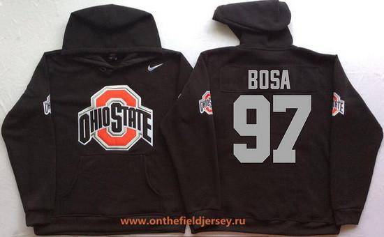 Men's Ohio State Buckeyes #97 Joey Bosa Nike Black Stitched NCAA College Football Hoodie