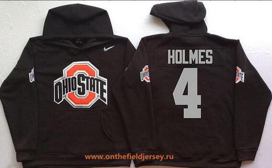 Men's Ohio State Buckeyes #4 Santonio Holmes Nike Black Stitched NCAA College Football Hoodie