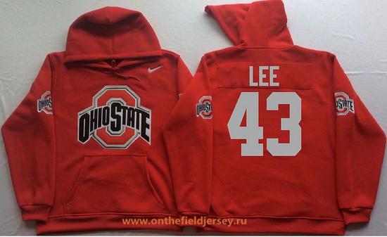 Men's Ohio State Buckeyes #43 Darrin Lee Nike Red Stitched NCAA College Football Hoodie