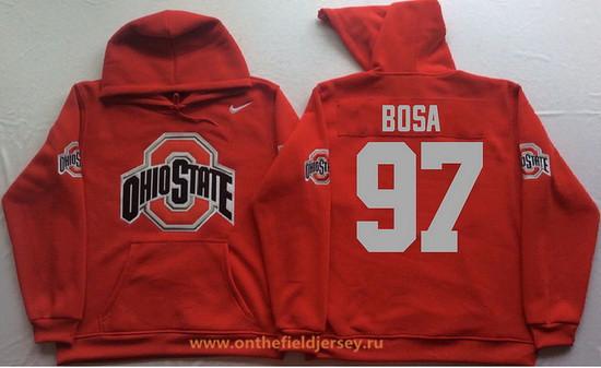 Men's Ohio State Buckeyes #97 Joey Bosa Nike Red Stitched NCAA College Football Hoodie