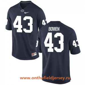 Men's Penn State Nittany Lions #43 Manny Bowen Navy Blue College Football Stitched Nike NCAA Jersey
