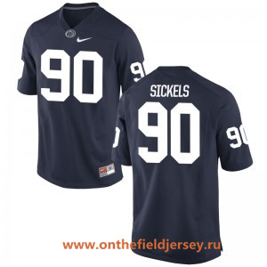 Men's Penn State Nittany Lions #90 Garrett Sickels Navy Blue College Football Stitched Nike NCAA Jersey