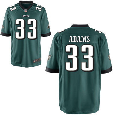 Men's Philadelphia Eagles #33 Josh Adams Midnight Green Team Color Stitched NFL Nike Game Jersey