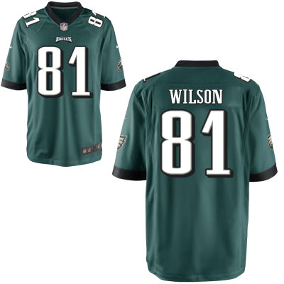 Men's Philadelphia Eagles #81 Marquess Wilson Midnight Green Team Color Stitched NFL Nike Game Jersey