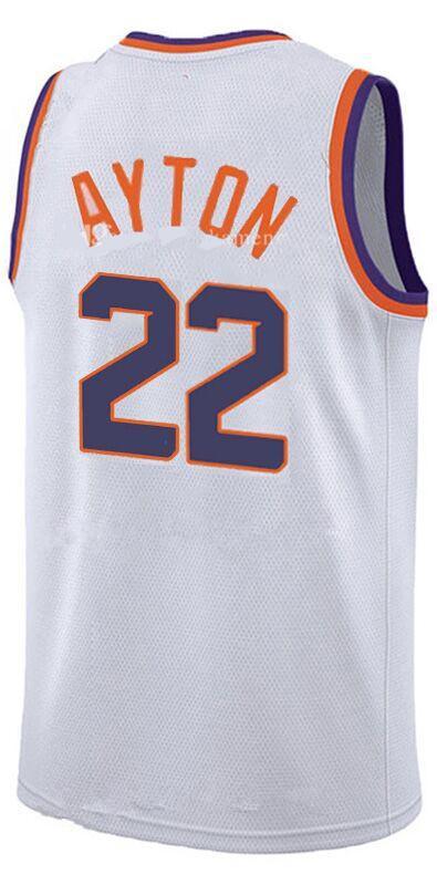 Men's Phoenix Suns #22 Deandre Ayton White 2018 Draft First Round Pick Nike NBA Jersey