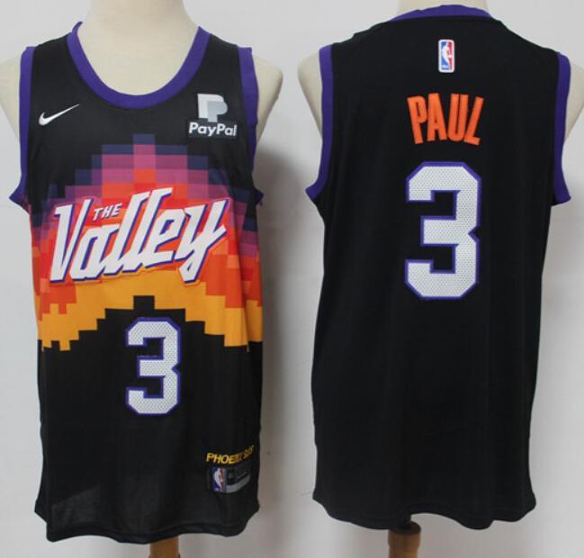 Men's Phoenix Suns #3 Chris Paul Black 2020-21 City Edition Swingman Nike Jersey