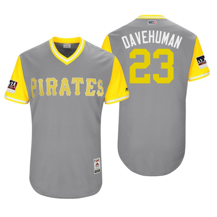 Men's Pittsburgh Pirates Authentic David Freese #23 Gray 2018 LLWS Players Weekend Davehuman Jersey