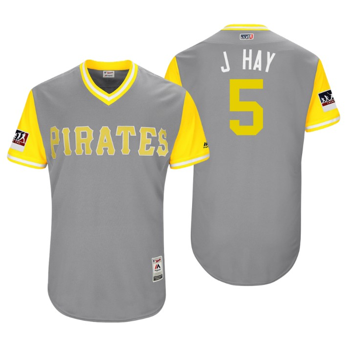 Men's Pittsburgh Pirates Authentic Josh Harrison #5 Gray 2018 LLWS Players Weekend J Hay Jersey