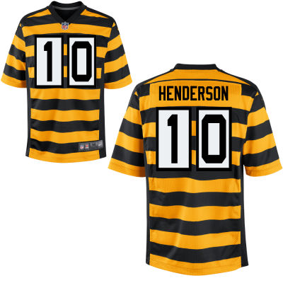 Men's Pittsburgh Steelers #10 Quadree Henderson Yellow with Black Bumblebee Stitched NFL Nike Elite Jersey