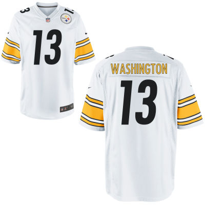 Men's Pittsburgh Steelers #13 James Washington White Road Stitched NFL Nike Game Jersey