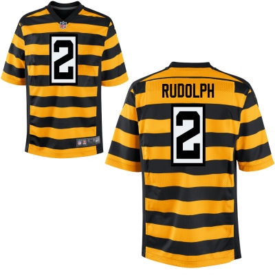 Men's Pittsburgh Steelers #2 Mason Rudolph Yellow with Black Bumblebee Stitched NFL Nike Elite Jersey