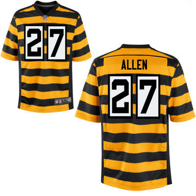 Men's Pittsburgh Steelers #27 Marcus Allen Yellow with Black Bumblebee Stitched NFL Nike Elite Jersey