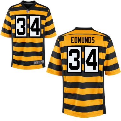 Men's Pittsburgh Steelers #34 Terrell Edmunds Yellow with Black Bumblebee Stitched NFL Nike Elite Jersey