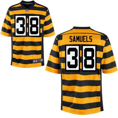 Men's Pittsburgh Steelers #38 Jaylen Samuels Yellow with Black Bumblebee Stitched NFL Nike Elite Jersey