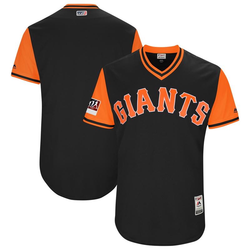 Men's San Francisco Giants Majestic Black Orange 2018 Players' Weekend Authentic Team Jersey