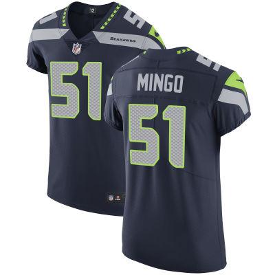 Men's Seattle Seahawks #51 Barkevious Mingo Navy Blue Team Color Stitched NFL Nike Vapor Untouchable Elite Jersey