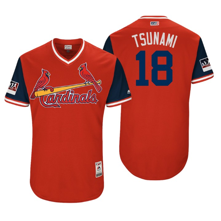 Men's St. Louis Cardinals Authentic Carlos Martinez #18 Red 2018 LLWS Players Weekend Tsunami Jersey