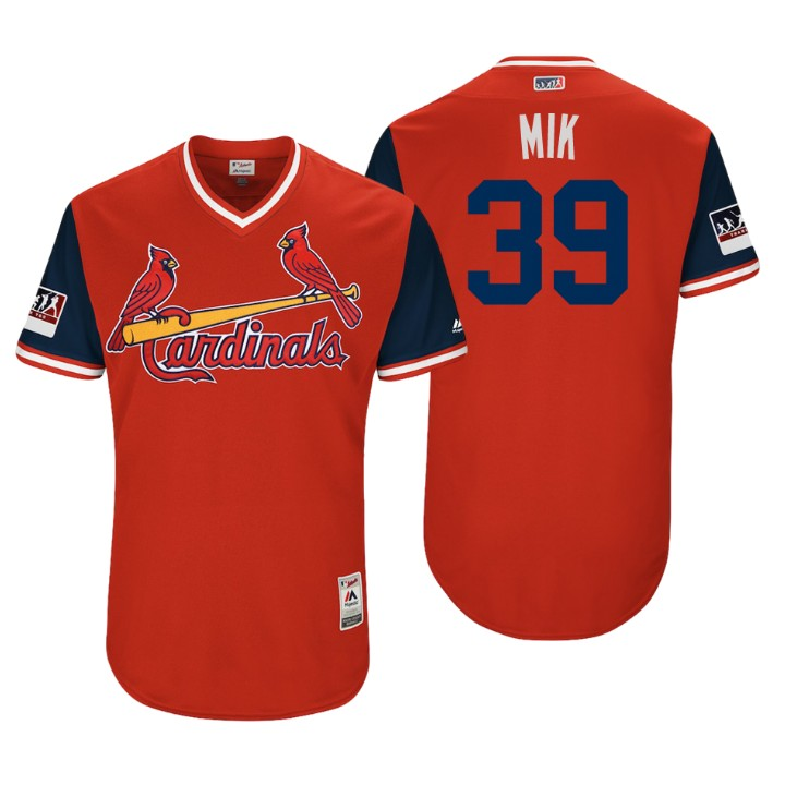 Men's St. Louis Cardinals Authentic Miles Mikolas #39 Red 2018 LLWS Players Weekend Mik Jersey