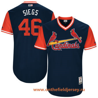 Men's St. Louis Cardinals Kevin Siegrist -Siegs- Majestic Navy 2017 Little League World Series Players Weekend Stitched Nickname Jersey