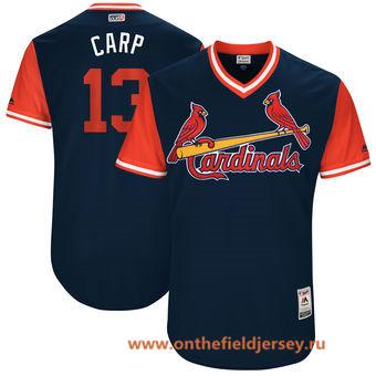 Men's St. Louis Cardinals Matt Carpenter -Carp- Majestic Navy 2017 Little League World Series Players Weekend Stitched Nickname Jersey
