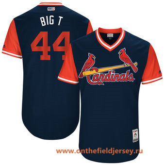 Men's St. Louis Cardinals Trevor Rosenthal -Big T- Majestic Navy 2017 Little League World Series Players Weekend Stitched Nickname Jersey